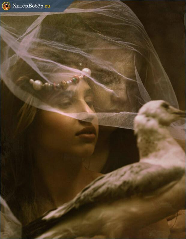 Парень девушка и голубь