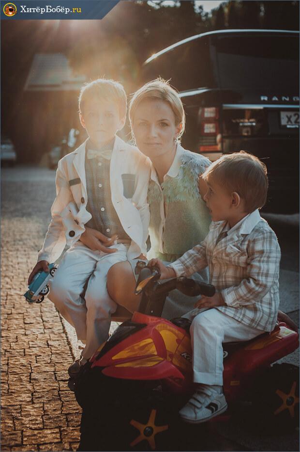 Работа фотостудии - мама с детьми