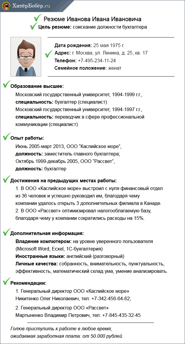 Образец Резюме Прораба Отделочника