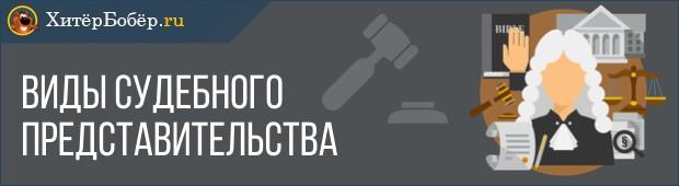 Виды судебного представительства