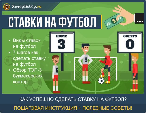 Ставки на футбол — как поставить на футбольный матч онлайн: 7 простых шагов + обзор ТОП-3 букмекерских контор