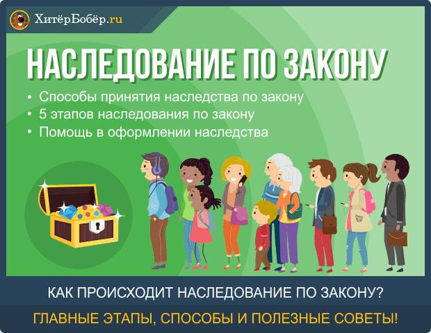 Порядок и очередность наследования по закону в РФ
