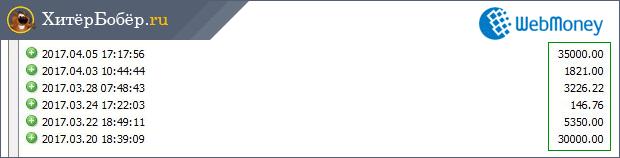 Скриншот вебмани-кошелька