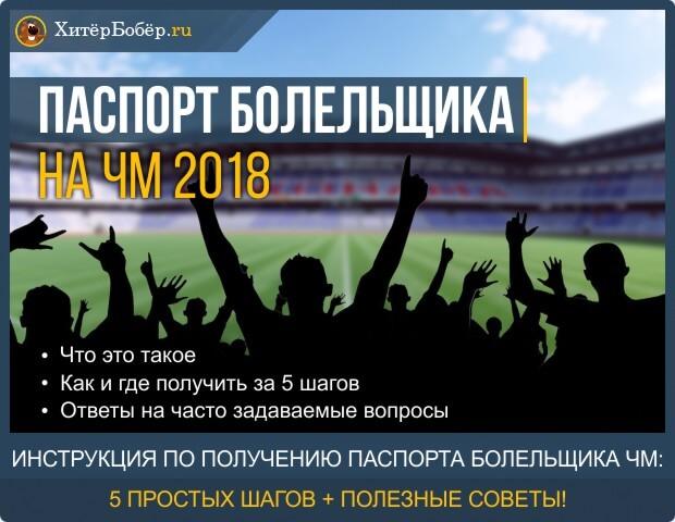 Паспорт болельщика на ЧМ 2018
