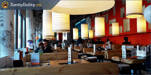 Интерьер японского ресторана