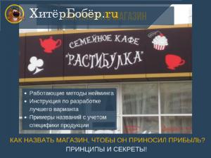 Название магазина как фактор успешной торговли
