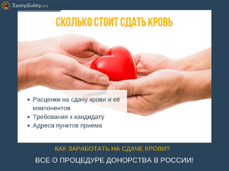 Сколько стоит сдать кровь