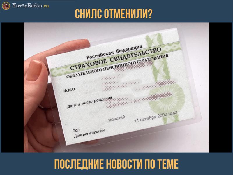 Отмена СНИЛС в России 2019: закон и последние новости о запрете бумажных карточек