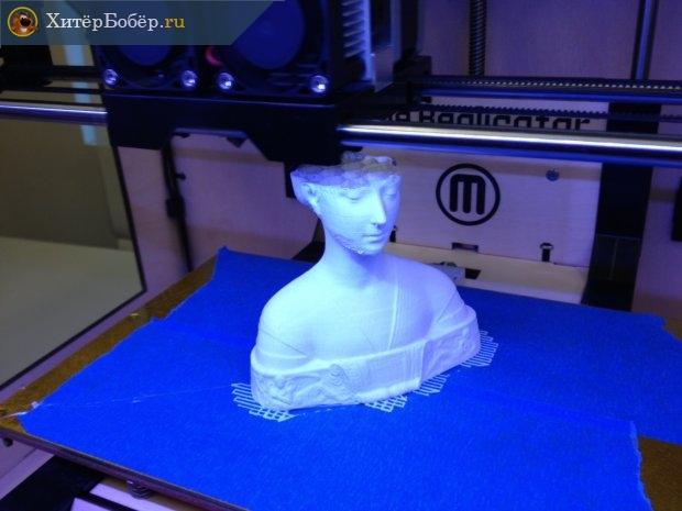 Процесс создания объекта на 3D-принтере