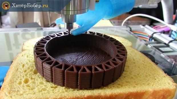 Печать шоколадом на 3Д-принтере