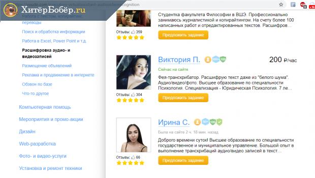 Скрин фрагмента рейтинга расшифровщиков на ЮДо