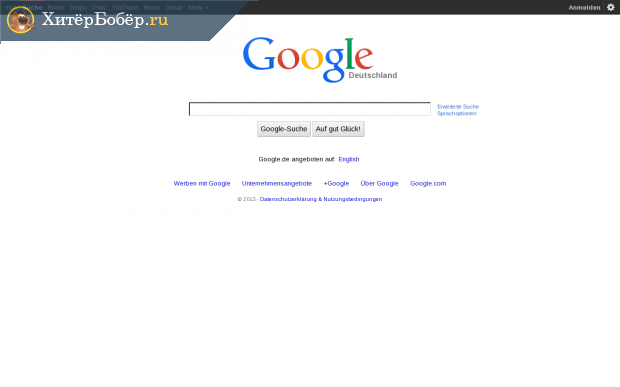 Главная страница Google