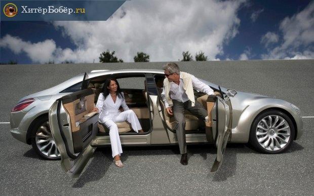 мужчина с женщиной на дорогой машине