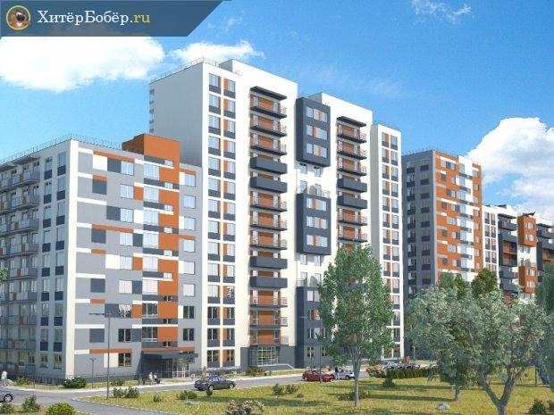 Микрорайон, застроенный многоэтажками