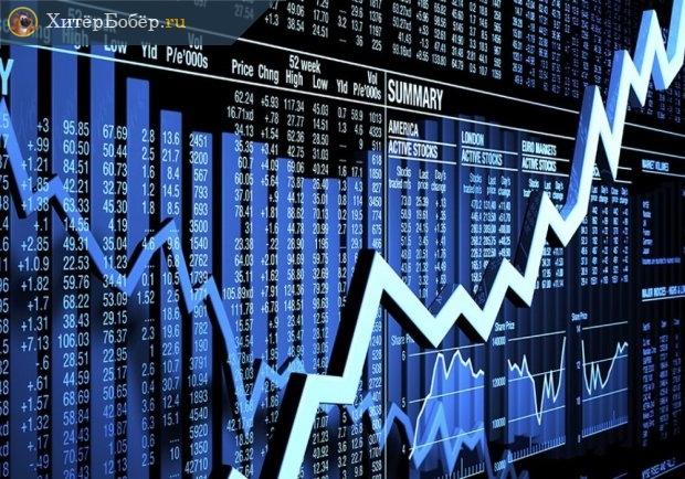 График котировок на фондовой бирже