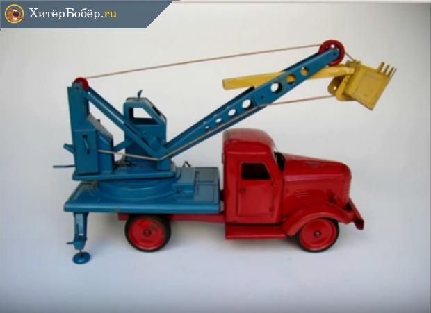 Советский игрушечный экскаватор