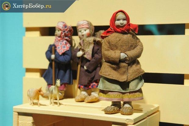 Антикварные куклы на выставке