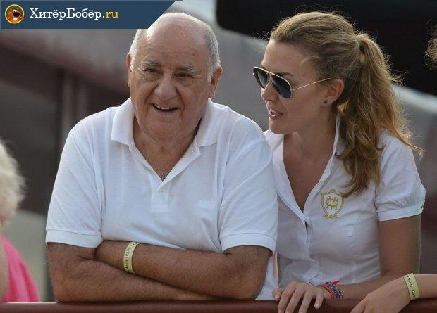 Амансио Ортега с дочерью Мартой