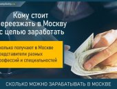сколько можно заработать в москве